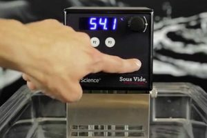 PolyScience CLASSIC Series Sous Vide Immersion Circulator Interface Buttons