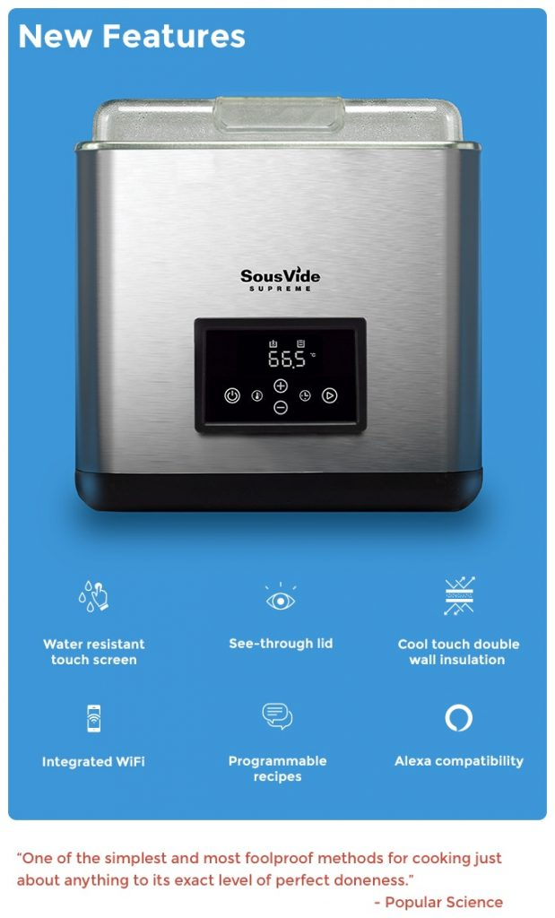 SousVide Supreme Touch Plus Features